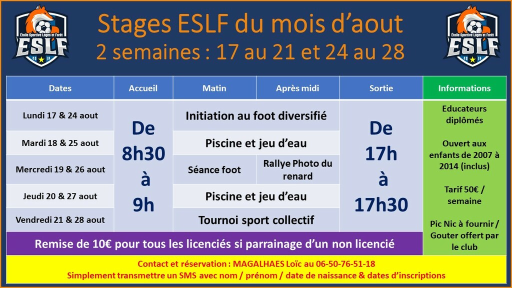Stages ESLF
